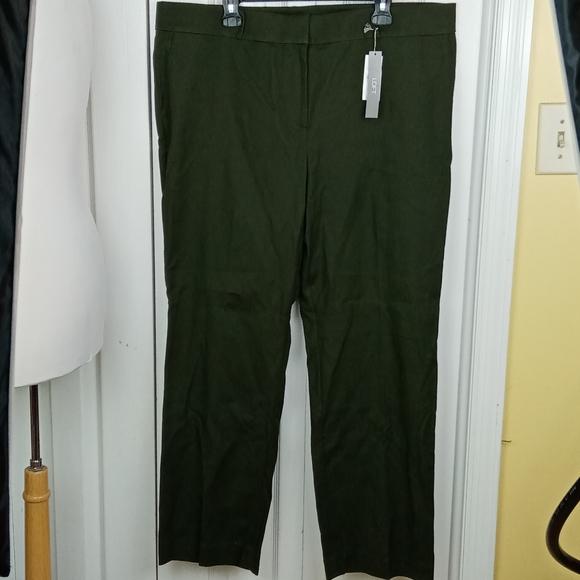 LOFT Pants - NWT Loft curvy straight dark green pants